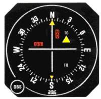 A Mechanical VOR indicator